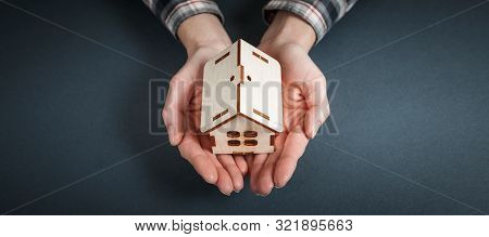 Real Estate Concept. Buying And Selling Homes. Mortgage And Payment Of Taxes. Debt And Loan. Purchas