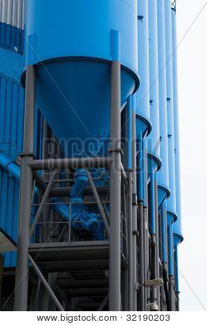 Blue Silo For Storage