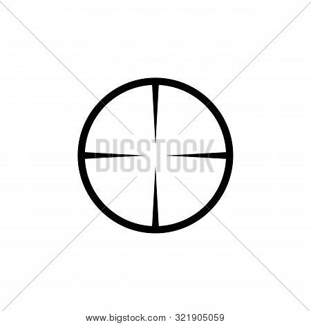 Simple Sniper Rifle Aim Target. Ar Crosshairs. Gun Scope Icon.