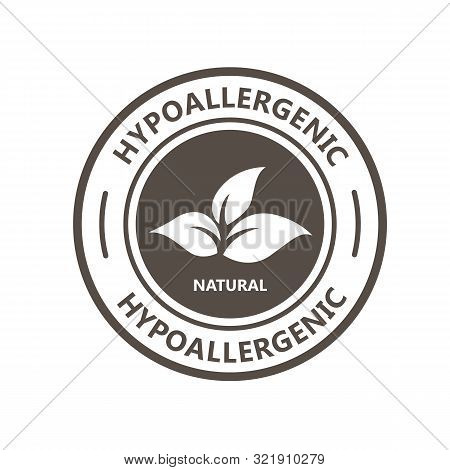Hypoallergenic Product Label With Leaf - Natural Hypoallergenic Tested Stamp