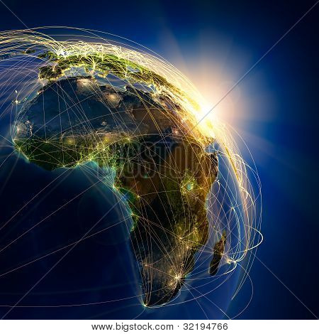 Main Air Routes In Africa