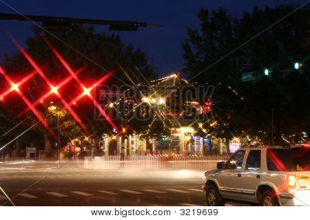 Long Exposure Of University Avenue In Gainesville, Fl