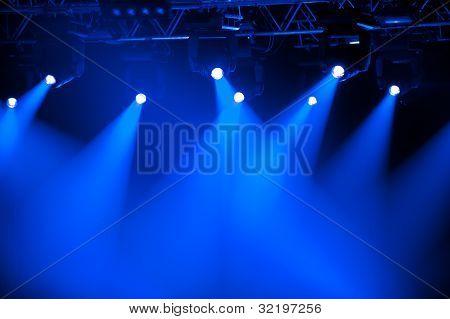 Blue Stage Spotlights