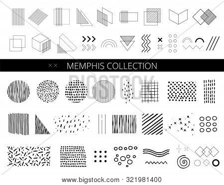 Set Abstract Memphis Vector Photo Free Trial Bigstock