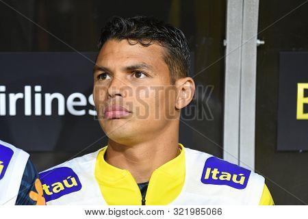Brazilian Soccer Player Thiago Silva, During International Friendly Soccer Match.