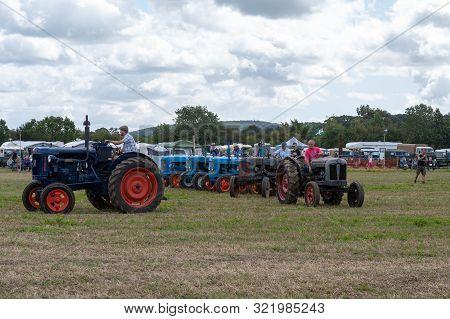 Haselbury Plucknett.somerset.united Kingdom.august 18th 2019.fordson Major Tractors Are On Display I
