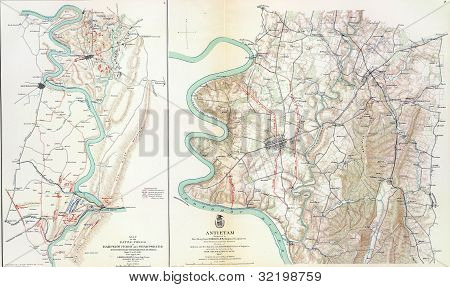 Map Of Battle Of Antietam
