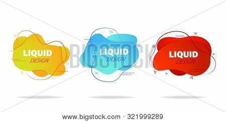 Trendy Gradient Liquid Shape. Fluid Isometric Background. Graphic Shape For Social Media, Advertisin