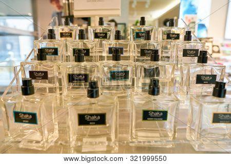 VERONA, ITALY - CIRCA MAY, 2019: perfume by Shaka on display at OVS store in Verona.