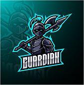 Guardian esports mascot logo design with text poster