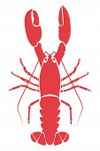 Red Lobster. The vector file is in easy edit layers poster