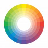 Spectral Rainbow Circle of 24 Multicolor Polychrome Segments. The spectral harmonic colorful palette of the painter. poster