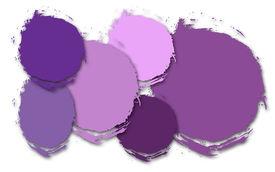 Shades Of Purple Abstract Circles