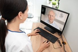 Doctor And Senior Woman Patient, Telehealth