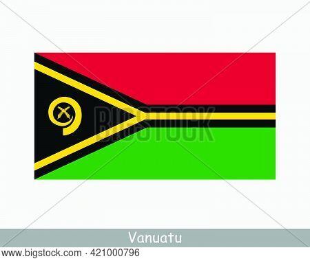 National Flag Of Vanuatu. Vanuatuan Country Flag. Republic Of Vanuatu Detailed Banner. Eps Vector Il
