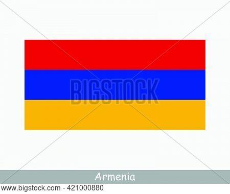 National Flag Of Armenia. Armenian Country Flag. Republic Of Armenia Detailed Banner. Eps Vector Ill