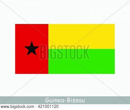 National Flag Of Guinea-bissau. Bissau-guinean Country Flag. Republic Of Guinea-bissau Detailed Bann