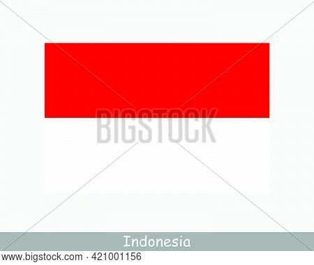 National Flag Of Indonesia. Indonesian Country Flag. Republic Of Indonesia Detailed Banner. Eps Vect