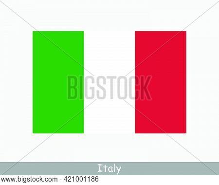 National Flag Of Italy. Italian Country Flag. Italian Republic Detailed Banner. Eps Vector Illustrat