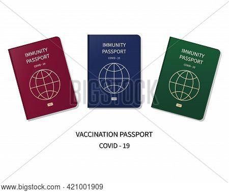 Vaccination Passport. Coronavirus Immunity Symbol Sign. Vaccination Certificate During Coronavirus P