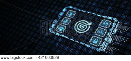 Business, Technology, Internet And Network Concept. Skill Knowledge Ability.3d Illustration