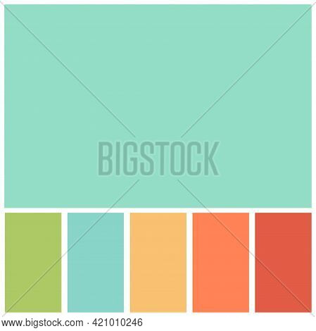 Green Colour Palette Soft Pastel For Template, Simple Green Color Soft For Design Background