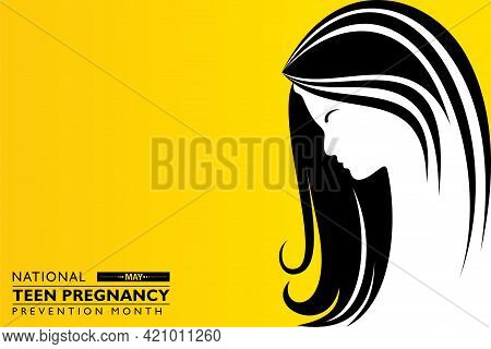 Vector Illustration Of National Teen Pregnancy Prevention Month Observed In May Across United States