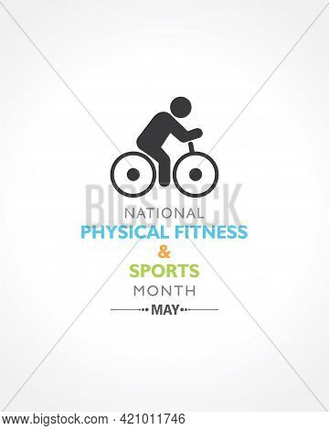 Vector Illustration Of National Physical Fitness And Sports Month Observed In May To Promote Healthy