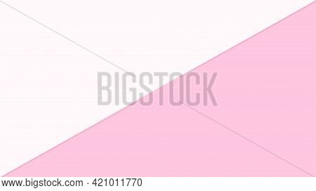 Pink Pastel Soft Color And White For Banner Background, Simple Pink White Pastel Color In Top View F