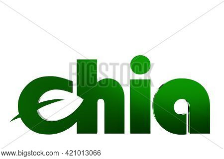 Green Chia Coin Logo Isolated On White Background. Chia Eco Crypto Currency. 3d Rendering