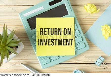 Return On Investment Word On A Yellow Pepper - Finance Conceptual