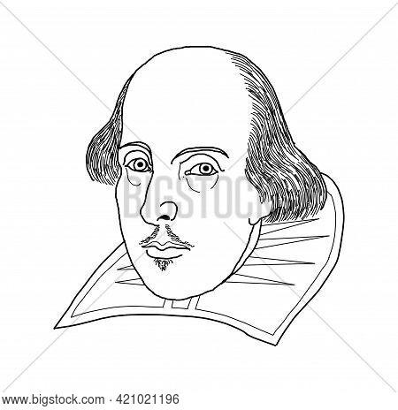 Illustration Of The English Writer William Shakespeare