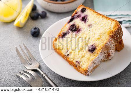 Traditional Lemon Blueberry Pound Cake, Bundt Cake
