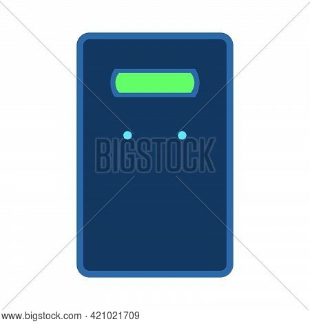 Swat Shield Vector Security Police Force Icon Illustration. Law Shield Military Guard Cop Safety Sym