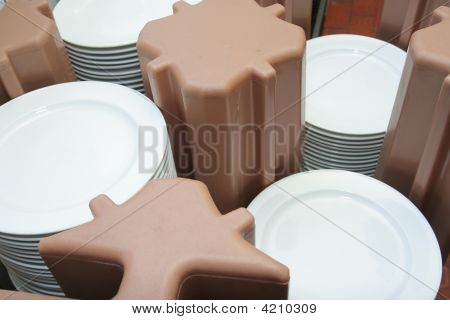Plates In Catering Or Banquet Industry