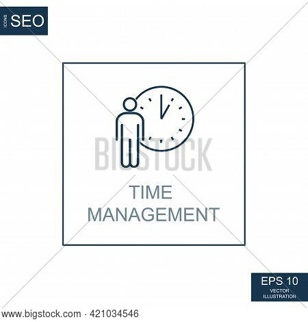Abstract Business Icons, Ceo Time Management - Vector Illustration