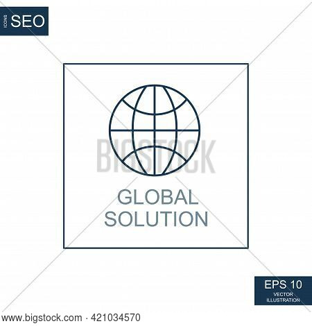 Abstract Business Icons, Ceo Global Solution - Vector Illustration
