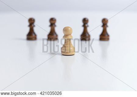 Chess Board Game With Copy Space For Your Text Business Leader Solve Problems Concept