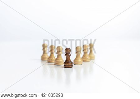 Planning Strategy With Chess Figures On White Table