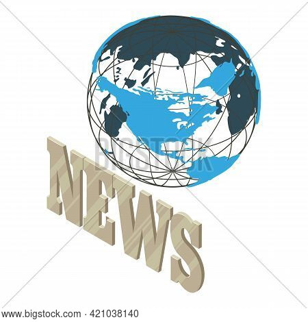Daily News Icon. Isometric Illustration Of Daily News Vector Icon For Web
