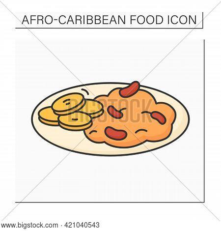 Ewa Riro Color Icon. Beans Porridge, Stewed Beans. Yoruba Traditional Dish. Afro-caribbean Food.loca