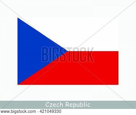 National Flag Of Czech Republic. Czechia Country Flag. Czech Republic Detailed Banner. Eps Vector Il