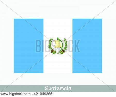 National Flag Of Guatemala. Guatemalan Country Flag. Republic Of Guatemala Detailed Banner. Eps Vect