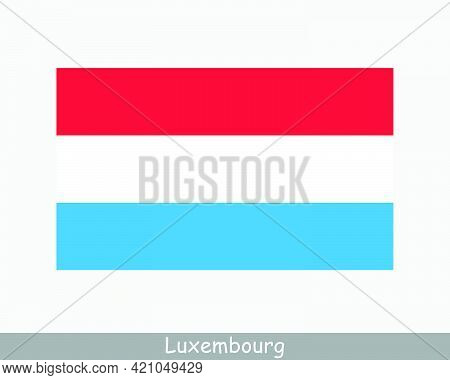 National Flag Of Luxembourg. Country Flag. Grand Duchy Of Luxembourg Country Flag Detailed Banner. E