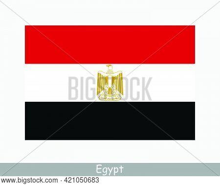 National Flag Of Egypt. Egyptian Country Flag. Arab Republic Of Egypt Detailed Banner. Eps Vector Il