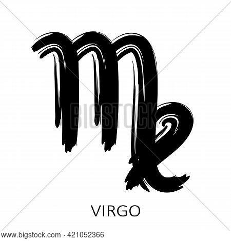 Zodiac Sign Virgo Isolated On White Background. Zodiac Constellation. Design Element For Horoscope A