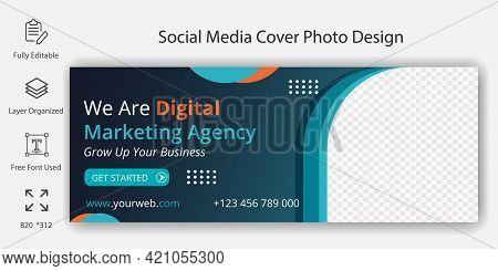 Digital Marketing Agency Social Media Pot Or The Cover Page Design. Social Business Marketing Banner