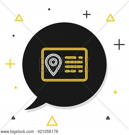 Line Address Book Line Icon Isolated On White Background. Telephone Directory. Colorful Outline Conc
