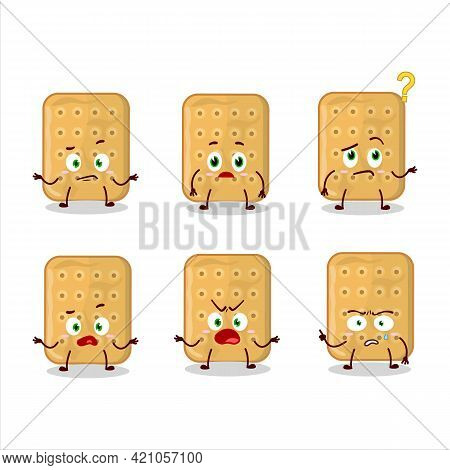 Cartoon Character Of Biscuit With What Expression