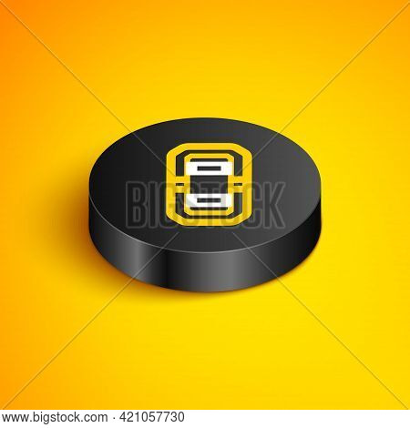 Isometric Line Rafting Boat Icon Isolated On Yellow Background. Inflatable Boat. Water Sports, Extre